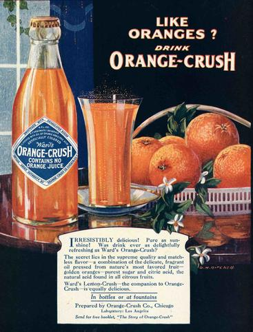 1920s USA Orange Crush oranges