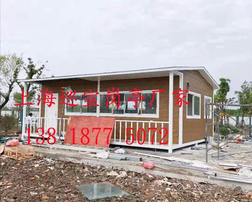 昆山阳澄湖金属雕花板岗亭现场制作安装图