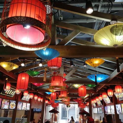 美食城设计,餐厅设计,古典装修SI形象