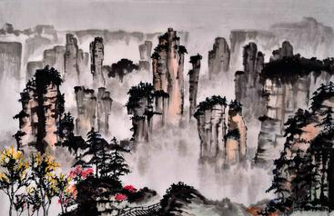 水墨画 山水 Ink-wash painting Landscape