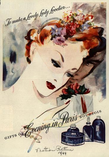 1940s USA Bourjois Magazine Advert
