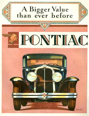 1920s USA Pontiac Magazine Advert