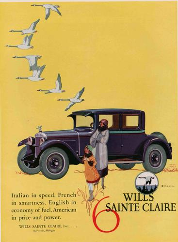 1920s USA Wills Sainte Claire