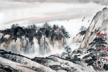 水墨画 山水 Ink-wash painting Landscape painting