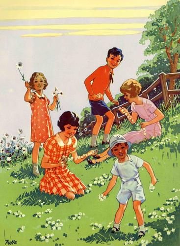 1950s UK Infant School Illustrations