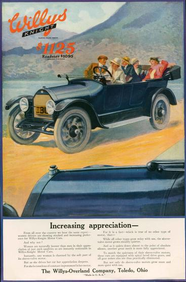 1920s USA Willys-Overland Magazine Advert
