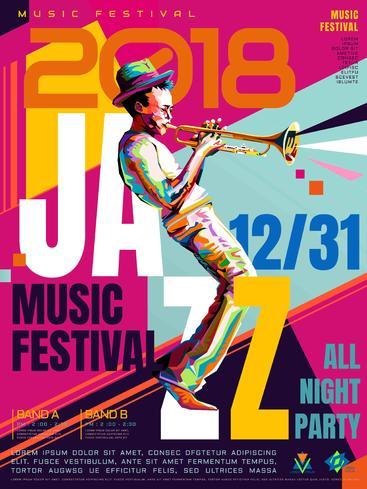 爵士乐通宵海报 Jazz all night poster