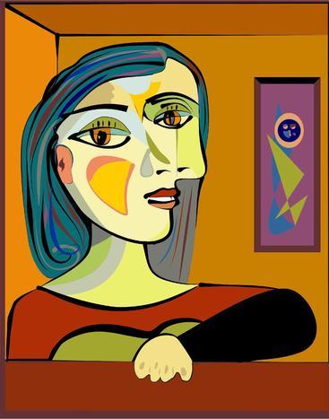 抽象的女性肖像 Abstact woman portrait
