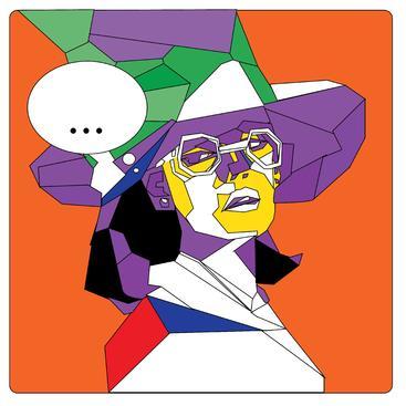 多边形女性肖像 Polygonal portrait woman