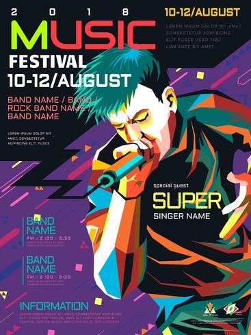 摇滚音乐节的海报 Rock festival poster