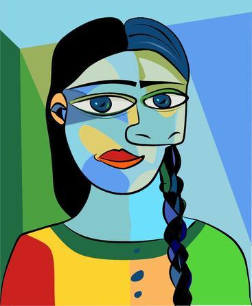 抽象女孩肖像 Abstract girl portrait