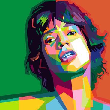 抽象女性画像 Abstract female portrait
