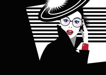 流行艺术中的时尚女性 Fashion woman in style pop art
