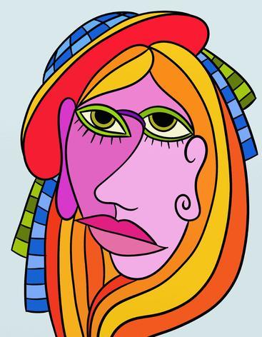 抽象女性肖像 Abstract woman portrait