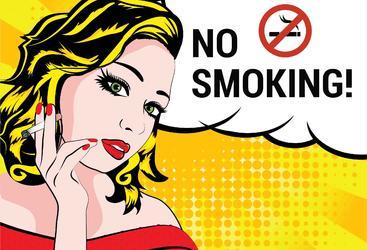 禁烟区标志 No smoking area sign