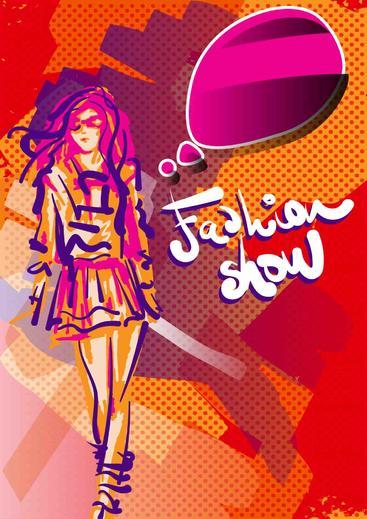 时装展海报 Fashion show poster
