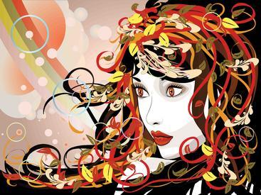 抽象女孩 Abstract girl
