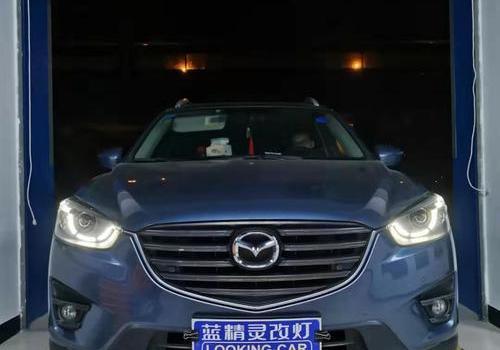 马自达CX-5升级日行灯 长沙改LED大灯