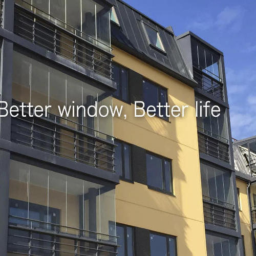 The balcony glazing can reduce noise