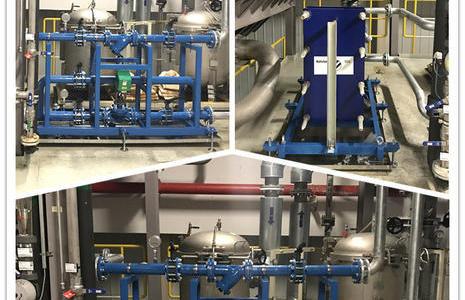 2019年9月23日合资整车厂涂装车间前处理热交换设备改造项目安装调试完成