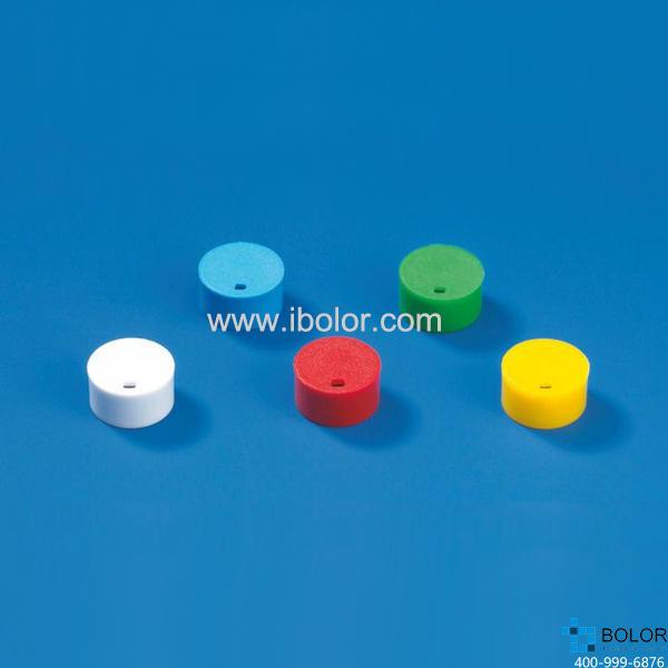彩色管盖插片,适用于细胞冻存管管盖,PP材质,黄色 114854