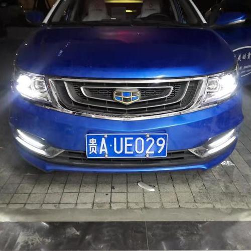 贵阳出租车大灯升级改装LED双光透镜吉利车灯改装