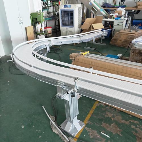 90度转弯爬坡柔性链输送机