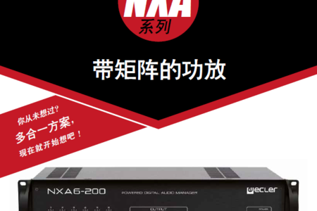 西班牙ECLER帶矩陣的功放NXA系列