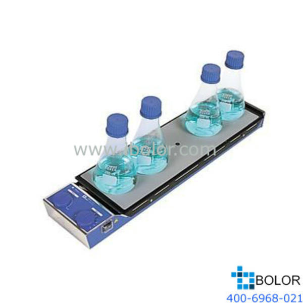 IKA/仪科多点加热磁力搅拌器 搅拌点位数:5点;加热温度:室温~120℃,*大搅拌量:2L,面板材
