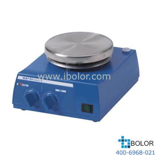 加热磁力搅拌器;加热温度:室温~320℃,最大搅拌量:10L,面板材质:不锈钢; RH basic