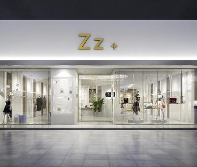 轻奢服装店铺设计 | 蓝信空间设计