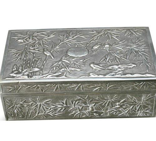 """012  """"东方竹韵""""银盒"""