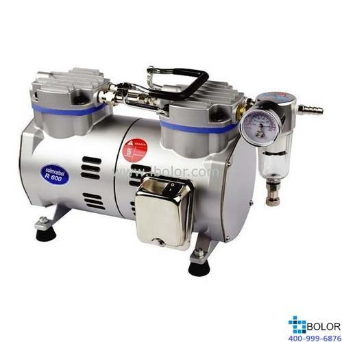 無油式真空泵 最大流速:65L/min;最大真空度:85.5Kpa;保修兩年;R600