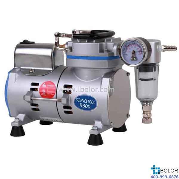 无油式真空泵;*大流速:18L/min;*大真空度:85.5Kpa (0.089MPa);保修两年;R300