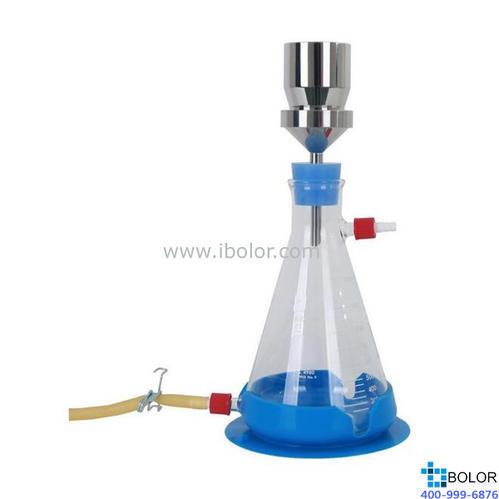 不銹鋼溶劑過濾器;100ml旋卡式316L不銹鋼漏斗、1000ml帶底部快速排液口抽濾瓶