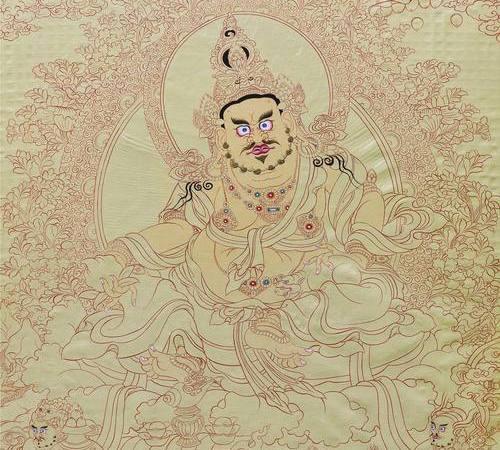 062  黄财神 唐卡