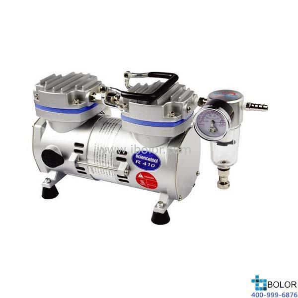 无油式真空泵;*大流速:20L/min;*大真空度:97.33Kpa;保修两年;R410