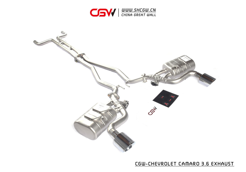 雪佛兰科迈罗3.6 全段双边单出阀门排气