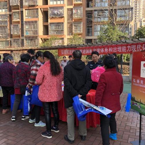 宪法宣传周丨龙虎塘联动宣传进社区