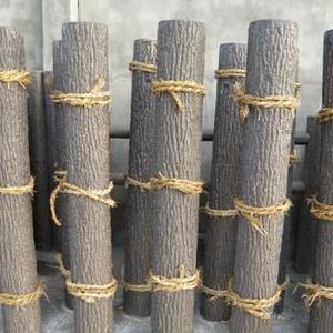 上海空心仿木桩 园林景观工程仿木桩