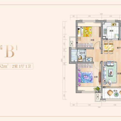 納尼亞小鎮瀾舍-兩室一廳一衛-76.52㎡