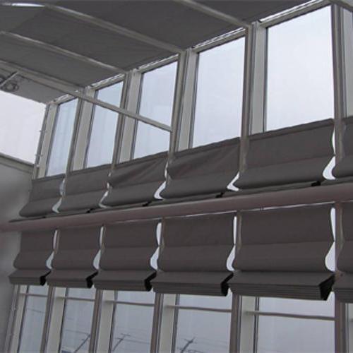 手动双轨折叠式天棚帘
