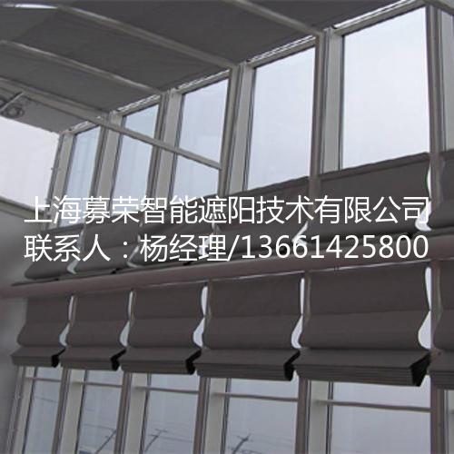 手动双轨折叠式天棚帘,上海募荣智能遮阳技术有限公司