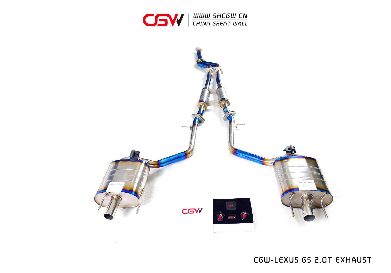 雷克萨斯GS 2.0T CGW阀门排气 中尾钛
