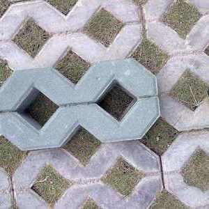 上海停车位植草pc砖路面铺地砖