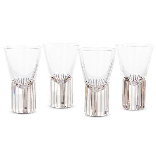 TANK SHOT GLASSES PLATINUM STRIPE