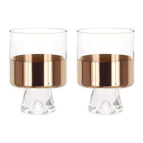 TANK LOW BALL GLASSES X2