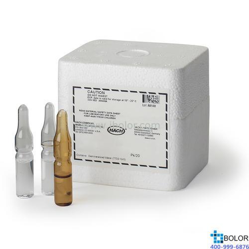 总余氯试剂;哈希试剂;量程:2-500μg/L;2563000;25630-00