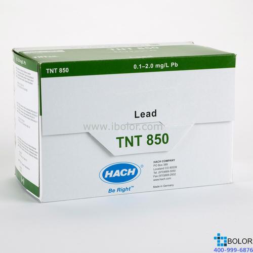 铅试剂25次;量程:0.1-2.0mg/L;哈希TNT850 试剂 暂停订购