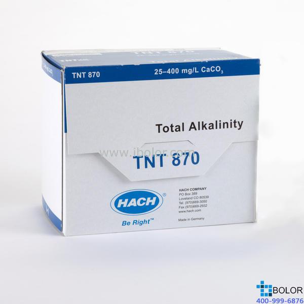 总碱度试剂25次;量程:25-400mg/L CaCO3;哈希TNT870试剂
